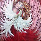 Angel with Dove by Cheryle  Bannon