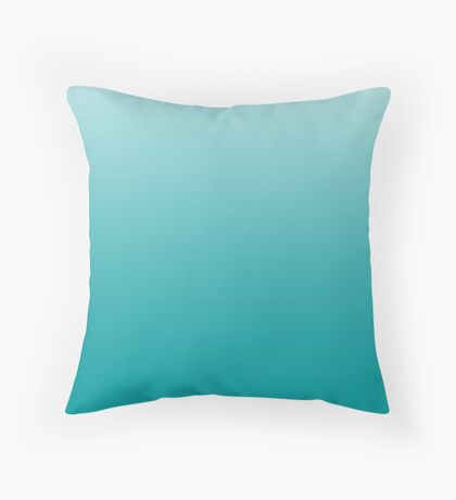 Vibrant Viridian Green ombre Throw Pillow