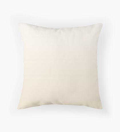 Creamy Buttercream pink ombre Throw Pillow
