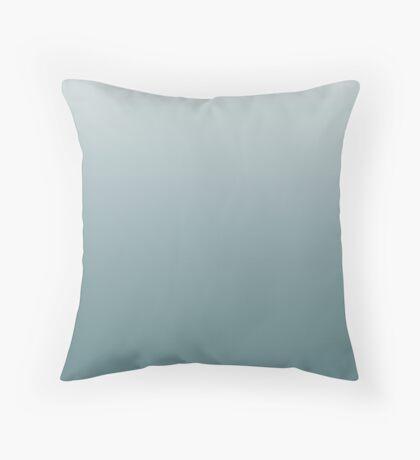 Ashy Arctic blue ombre Throw Pillow
