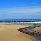 Meandering Waters, Tolsta Beach, Isle of Lewis by Kathryn Jones