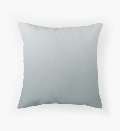 Silver Blue ombre Throw Pillow