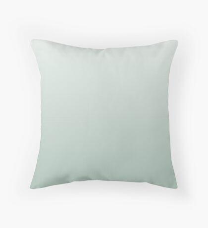 Light Silt Green ombre Throw Pillow