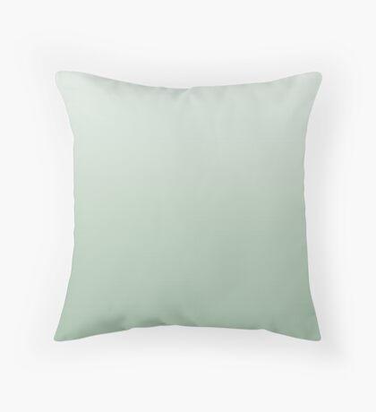 Smoke Green ombre Throw Pillow