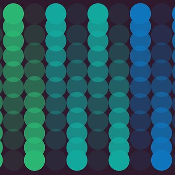 NECCO digital blues at night by PlacewearDesign