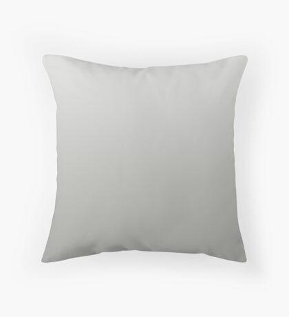 Smoky Flint Gray ombre Throw Pillow