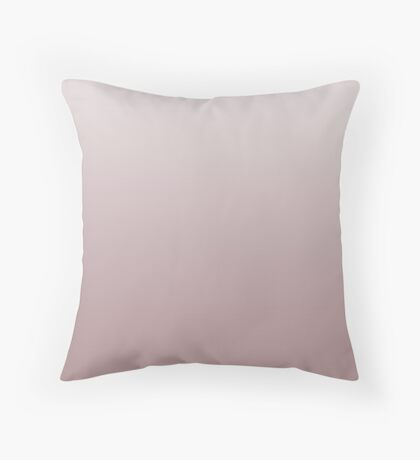 Dusty Woodrose pink ombre Throw Pillow