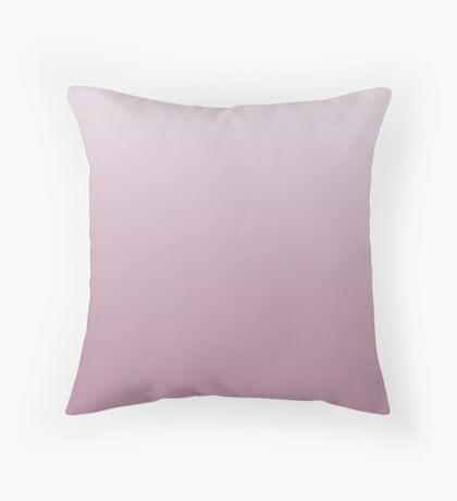 Dusty Orchid Haze pink ombre Throw Pillow