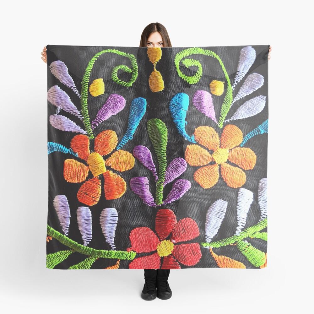 Mexikanische Blumen Stickerei Tuch