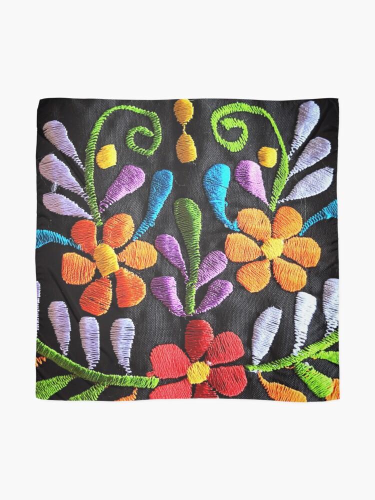 Alternative Ansicht von Mexikanische Blumen Stickerei Tuch