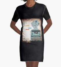 Static Grate Graphic T-Shirt Dress