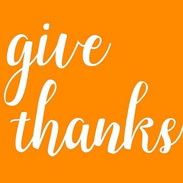 Give Thanks Lettering Design by sele504