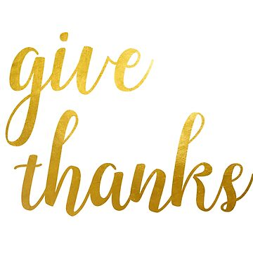Give Thanks Golden Typography Design by sele504