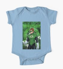 Green Super Hero One Piece - Short Sleeve