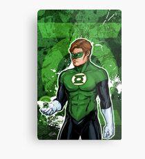 Green Super Hero Metal Print
