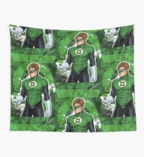 Green Super Hero Wall Tapestry