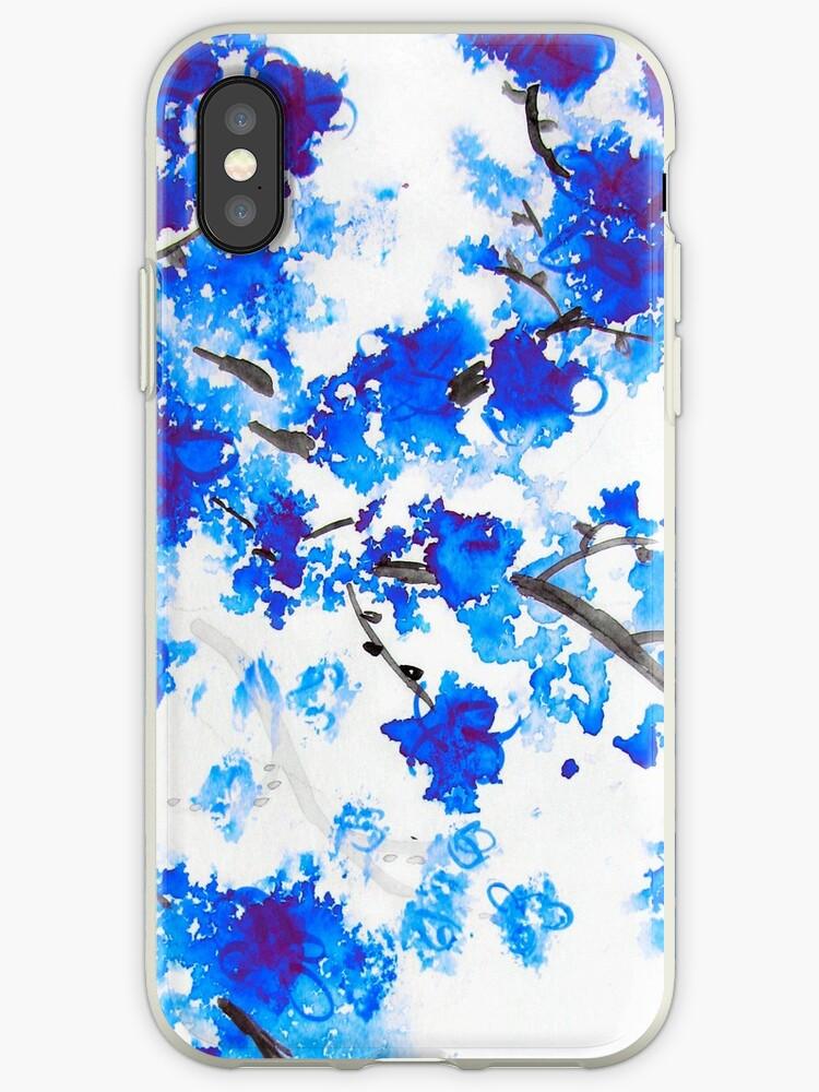 Blue Cherry Blossoms by Kathie Nichols