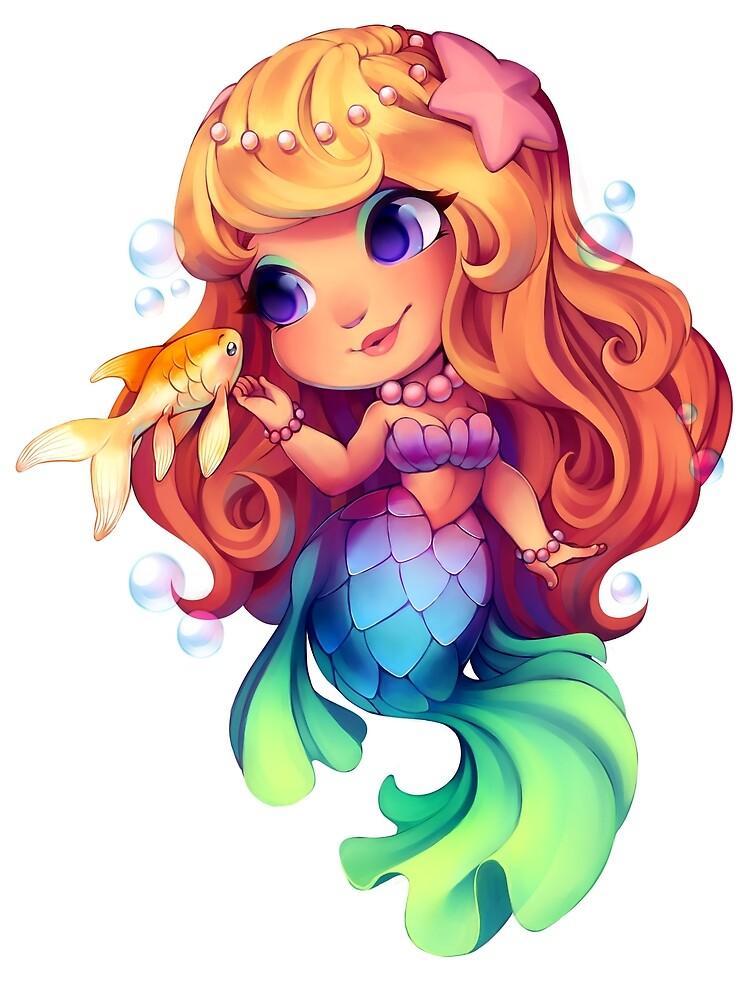"""""""Chibi Mermaid"""" By Goldenharlequin"""