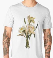 Double Narcissi In A Bouquet Isolated Men's Premium T-Shirt