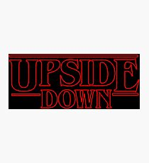 Stranger Things Eleven 11 Upside Down  Photographic Print