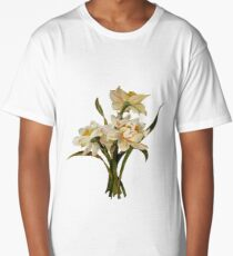 Double Narcissi Bouquet Vector Long T-Shirt