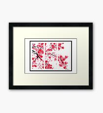 Cherry Blossom Tryptich Framed Print