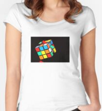 Puzzling Rubik's Cube  Women's Fitted Scoop T-Shirt