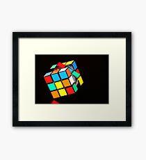 Puzzling Rubik's Cube  Framed Print