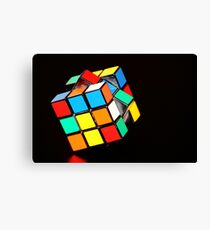 Puzzling Rubik's Cube  Canvas Print
