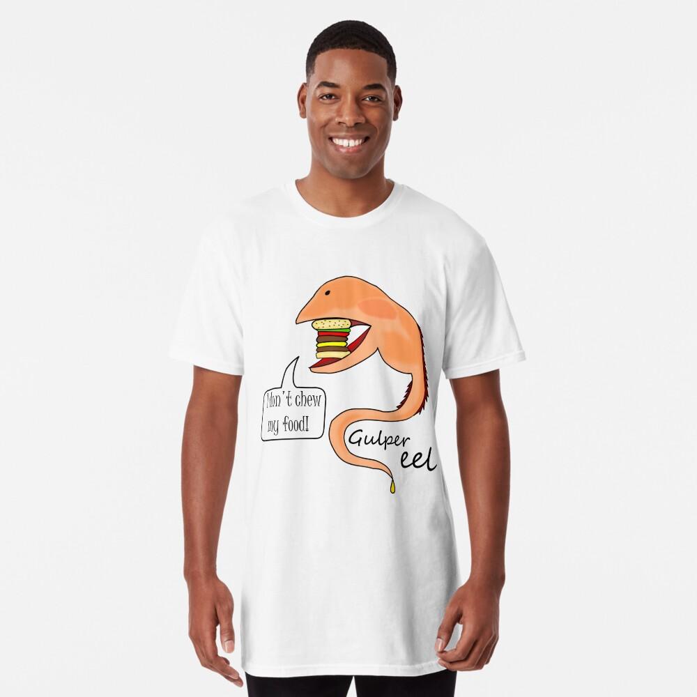 Gulper eel no mastica su comida Camiseta larga