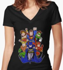 Super Heroes  Women's Fitted V-Neck T-Shirt