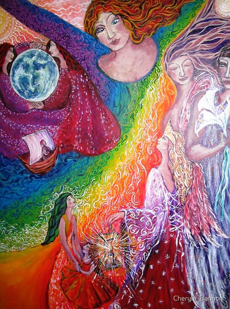 Rainbow Goddess by Cheryle  Bannon
