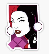 Female Super Villain Sticker