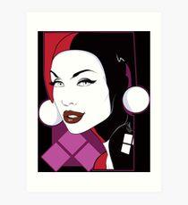 Female Super Villain Art Print