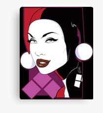 Female Super Villain Canvas Print