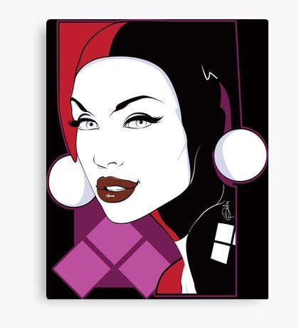 Female Super Villain Canvas Print
