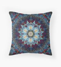 Didi's Blue Egyptian Water lily Throw Pillow
