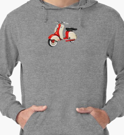 Scooter T-shirts Art: 1955 Lambretta LD 150 Reb and white Lightweight Hoodie