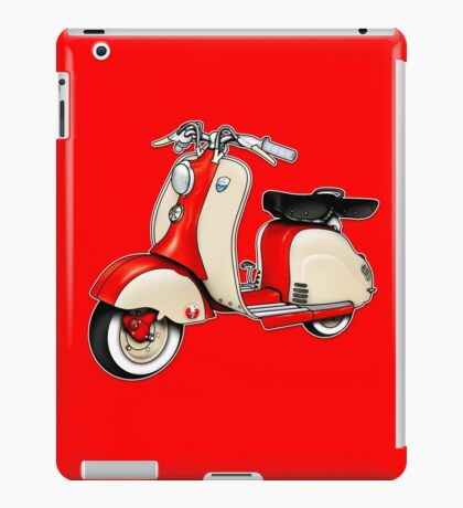 Scooter T-shirts Art: 1955 Lambretta LD 150 Reb and white iPad Case/Skin