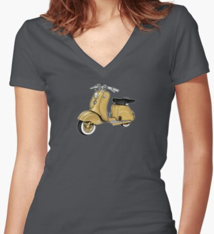 Scooter T-shirts Art: LD 150 - Original Color Women's Fitted V-Neck T-Shirt