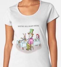Alice Liddell, Hatter, March Hare and Dormouse Women's Premium T-Shirt