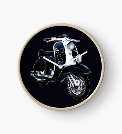 Scooter T-shirts Art: Lambretta Black Devil TV Clock