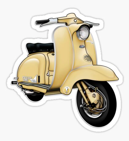 Scooter T-shirts Art: TV 175 Series 1 Scooter Design Sticker