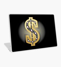 Dollar symbol in diamonds Laptop Skin