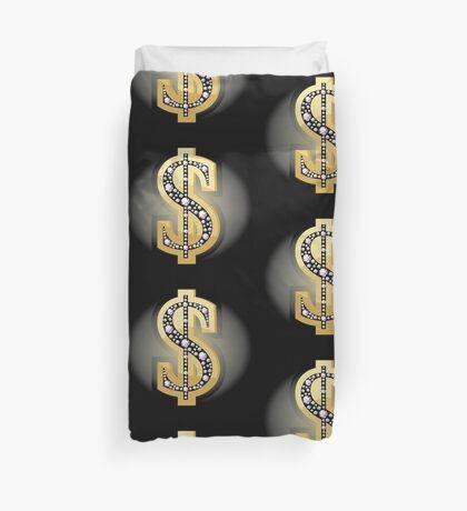 Dollar-Symbol in Diamanten Bettbezug