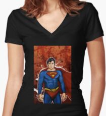 The Super Hero  Women's Fitted V-Neck T-Shirt