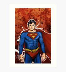 The Super Hero  Art Print