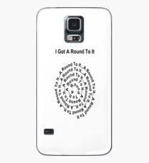 I Got A Round To It (black writing on light colours) Case/Skin for Samsung Galaxy
