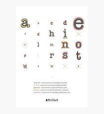 letter frequency Photographic Print
