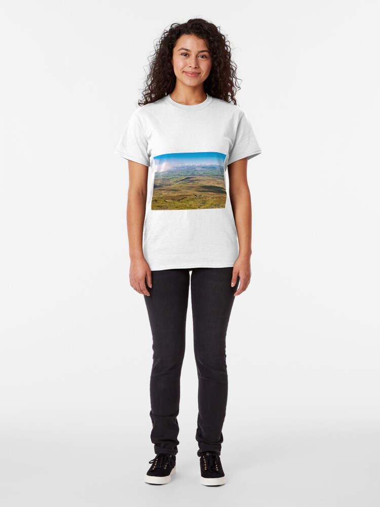 Alternate view of From the summit of Ingleborough Classic T-Shirt